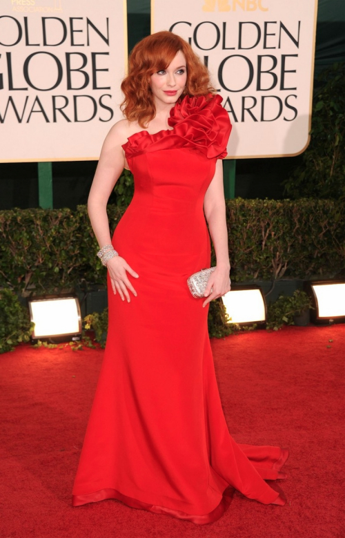 Looks I Love At The Golden Globes 2011 » Christina Hendricks Golden Globes