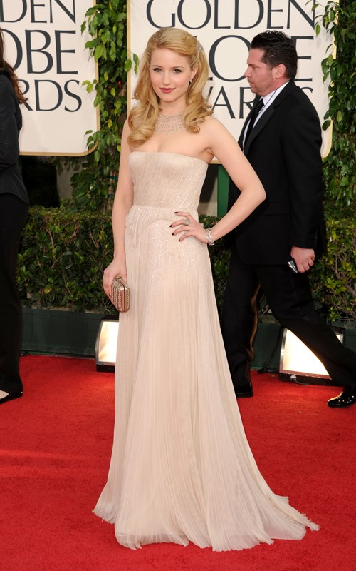 Looks I Love At The Golden Globes 2011 » Dianna Agron Golden Globes 2011