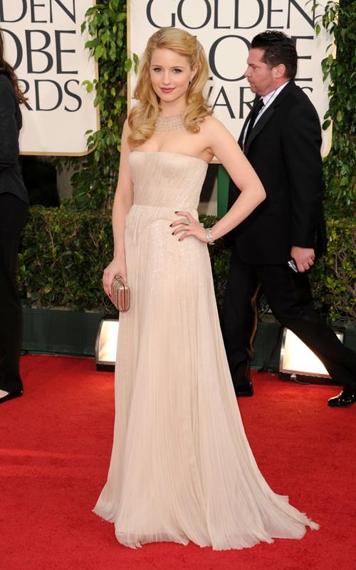 Looks I Love At The Golden Globes 2011 » Dianna Agron Golden Globes 2011