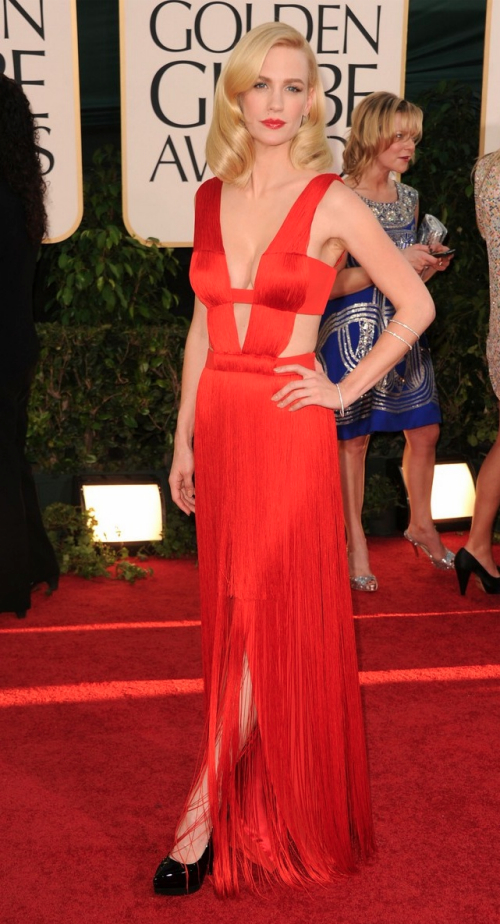 Looks I Love At The Golden Globes 2011 » January Jones Golden Globes 2011