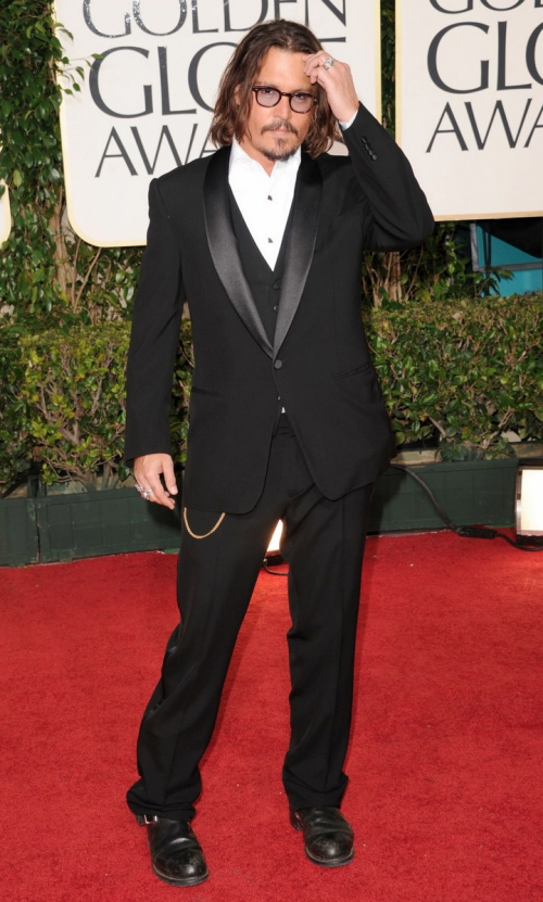 johnny depp 2011 images. Johnny Depp Golden Globes 2011